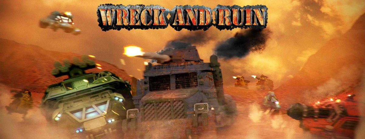 Wreck and Ruin, the post-apocalyptic battle using vehicular violence